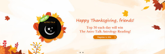 Happy Thanksgiving- Astro Talk Giveaway